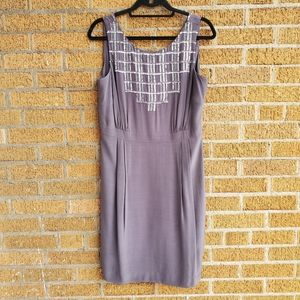 NWT Boden gray sleeveless sequined dress   Size 8*